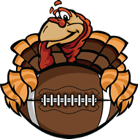 Thanksgiving Turkey Holding A Football