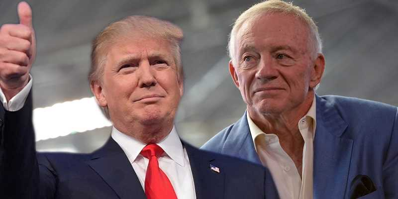 Donald Trump and Jerry Jones